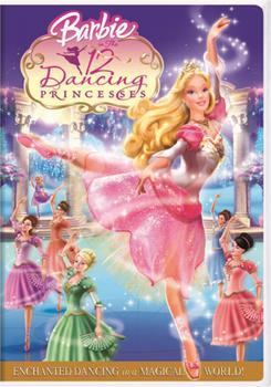 DVD Barbie in The 12 Dancing Princesses Book