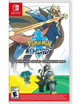 Game - Nintendo Switch Pokemon Sword + Pokemon Sword Expansion Pass Book