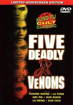 DVD Five Deadly Venoms Book