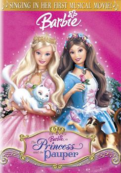 DVD Barbie as the Princess & the Pauper Book