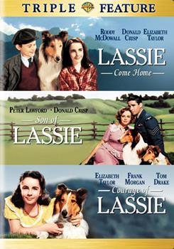 DVD Lassie Come Home / Son of Lassie / Courage of Lassie Book