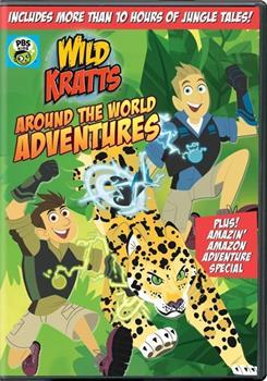 DVD Wild Kratts: Around the World Adventures Book
