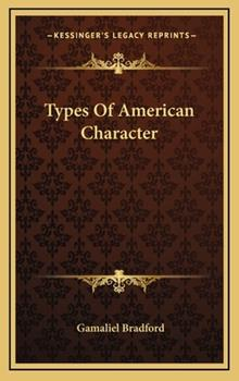 Hardcover Types of American Character Book
