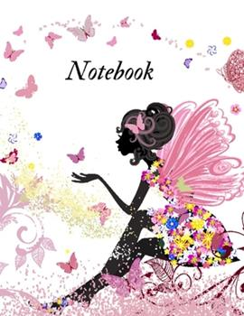 Paperback Notebook : College Ruled Lined Style Notebook W. Fairy Cover Theme Book