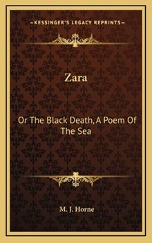 Hardcover Zar : Or the Black Death, A Poem of the Sea Book