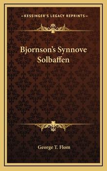 Hardcover Bjornson's Synnove Solbaffen Book