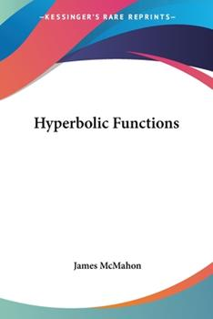 Paperback Hyperbolic Functions Book