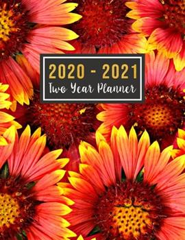 Paperback 2020-2021 Two Year Planner : 2020-2021 Monthly Planner Full Size - Jan 2020 - Dec 2021 - 24 Months Agenda Planner with Holiday - Personal Appointment ( Size 8. 5x11, Jan 2020 to Dec 2021 ) Red Flower Design Book