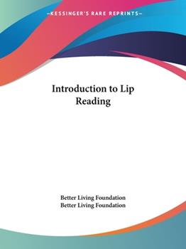 Paperback Introduction to Lip Reading Book