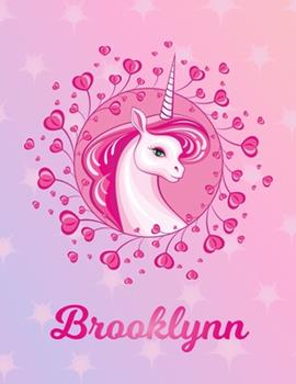 Paperback Brooklynn : Brooklynn Magical Unicorn Horse Large Blank Pre-K Primary Draw & Write Storybook Paper - Personalized Letter B Initial Custom First Name Cover - Story Book Drawing Writing Practice for Little Girl - Use Imagination, Create Tales, Be Creative Book