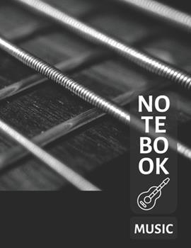Paperback Music Notebook for Guitar : Blank Sheet Music Notebook, Music Manuscript Paper, Composition Notebook, (110 Pages, 12 Staves per Page, Blank, 8. 5 X 11) Book