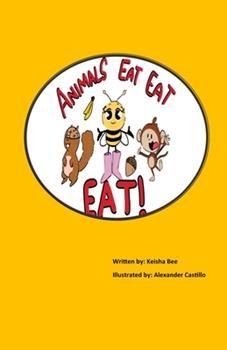 Paperback Animals Eat, Eat, Eat! [Large Print] Book