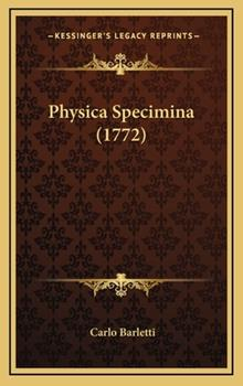 Hardcover Physica Specimina Book