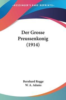 Paperback Der Grosse Preussenkonig Book