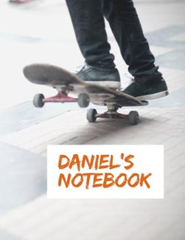 Paperback Daniel's Notebook : - My Name Journal, Dot Grid Journal, 100 Pages, 8. 5x11 Large Print, Soft Cover, Glossy Finish Book