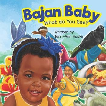 Paperback Bajan Baby What Do You See? [Large Print] Book