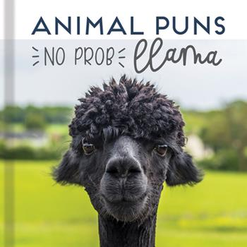 Hardcover Animal Puns: No Prob Llama Book