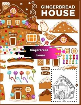 Paperback Gingerbread house: Coloring Book for Kids and Adults with Fun, Easy, and Relaxing (Coloring Books for Adults and Kids 2-4 4-8 8-12+) High Book