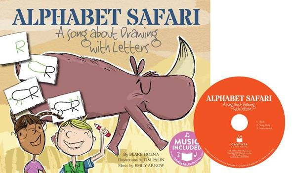 Hardcover Alphabet Safari: A Song about Drawing with Letters Book