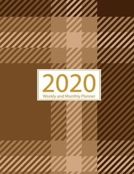 Paperback 2020 Planner Weekly and Monthly : Jan 1, 2020 to Dec 31, 2020: Weekly & Monthly Planner + Calendar Views - Inspirational Quotes and Gingham Cover (2020 Creative Planners Press) Book