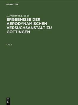 Hardcover Ergebnisse der aerodynamischen Versuchsanstalt zu G?ttingen [German] Book