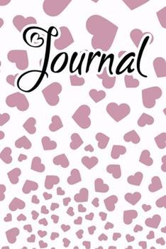 Paperback Journal : Journal for Women to Write in Purple Lavendar Falling Hearts Book