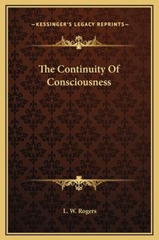 Hardcover The Continuity of Consciousness Book