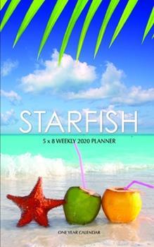 Paperback Starfish 5 X 8 Weekly 2020 Planner : One Year Calendar Book