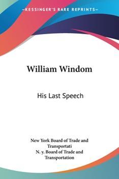 Paperback William Windom : His Last Speech Book