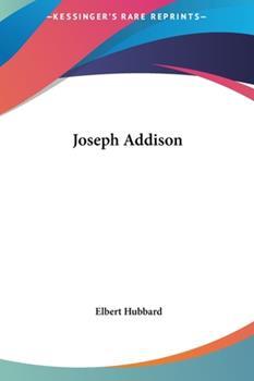 Hardcover Joseph Addison Book