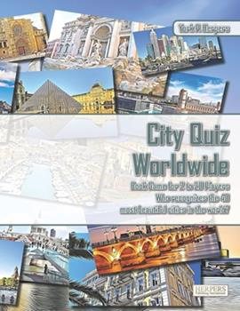 Paperback City Quiz Worldwide - Book Game for 2 to 20 Players - Who recognizes the 40 most beautiful cities in the world? Book