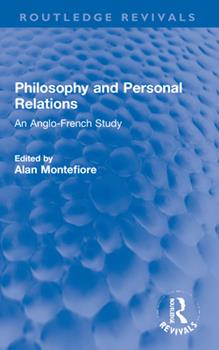 Paperback Philosophy and Personal Relations: An Anglo-French Study Book