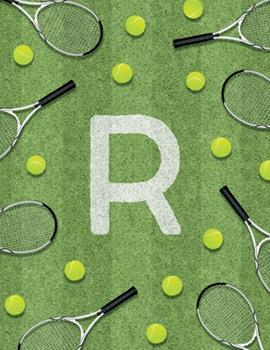 Paperback R : Monogram Tennis Court Sport Theme Composition Notebook. Great Gift for Sports Men, Women, Children and Students. 100 College Ruled / Lined Pages 8. 5 X 11 Book. Gloss Finish Book