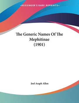 Paperback The Generic Names of the Mephitinae Book