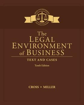 The Legal Environment of Business: Text and Cases 0324154658 Book Cover
