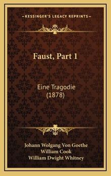 Hardcover Faust, Part : Eine Tragodie (1878) Book