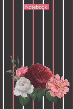 Paperback Flower Pattern Illustration : Notebook Book