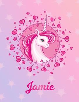 Paperback Jamie : Jamie Magical Unicorn Horse Large Blank Pre-K Primary Draw & Write Storybook Paper - Personalized Letter J Initial Custom First Name Cover - Story Book Drawing Writing Practice for Little Girl - Use Imagination, Create Tales, Be Creative Book