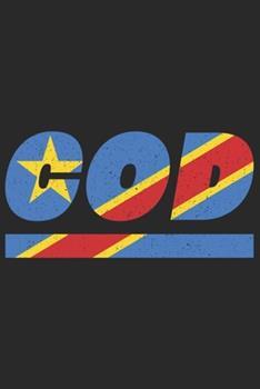 Paperback Cod : Demokratische Republik Kongo Notizbuch Mit Karo 120 Seiten in Wei�. Notizheft Mit der Demokratische Republik Kongo Flagge [German] Book
