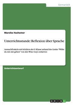Paperback Unterrichtsstunde : Reflexion ?ber Sprache Book