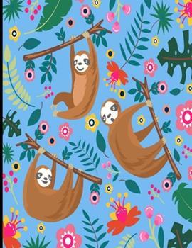 Paperback Amber : Light Blue Sloth Sketch Book, 366 Pages Sketch Pad, Sloth Sketchbook, Cute Sloth Cover Drawing Book