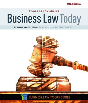 Business Law Today: Text & Summarized Cases, Standard Edition 0324654553 Book Cover