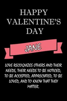 Paperback Happy Valentine's Day Jane Quote : Composition Notebook: Valentine's Day Gift for an Happy Valentine Day Gratitude Your Lover Book