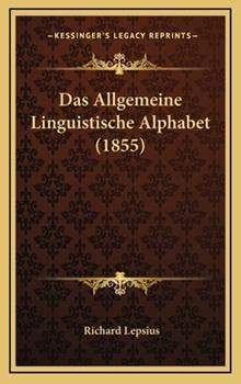 Hardcover Das Allgemeine Linguistische Alphabet Book