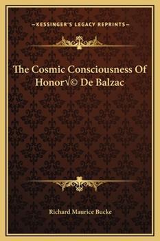 Hardcover The Cosmic Consciousness of Honor? de Balzac Book