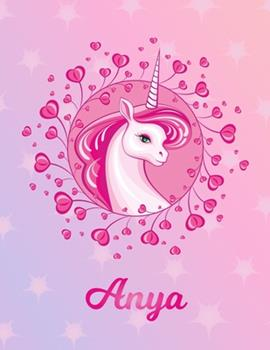 Paperback Anya : Anya Magical Unicorn Horse Large Blank Pre-K Primary Draw & Write Storybook Paper - Personalized Letter a Initial Custom First Name Cover - Story Book Drawing Writing Practice for Little Girl - Use Imagination, Create Tales, Be Creative Book