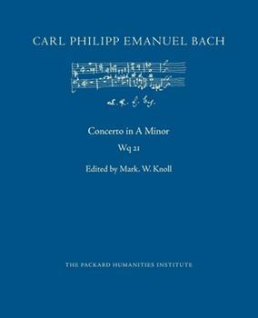 Paperback Concerto in A Minor, Wq 21 Book