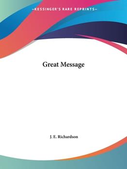 Paperback Great Message Book