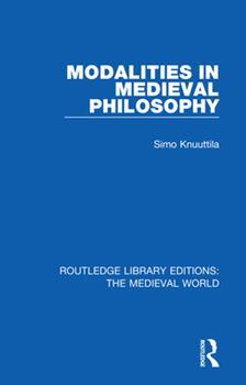 Paperback Modalities in Medieval Philosophy Book