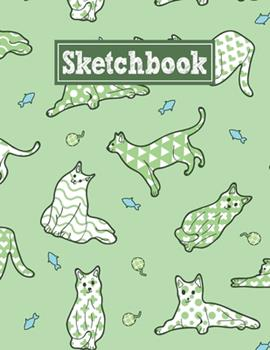 Paperback Sketchbook: 8.5 x 11 Notebook for Creative Drawing and Sketching Activities with Unique Cats Themed Cover Design Book